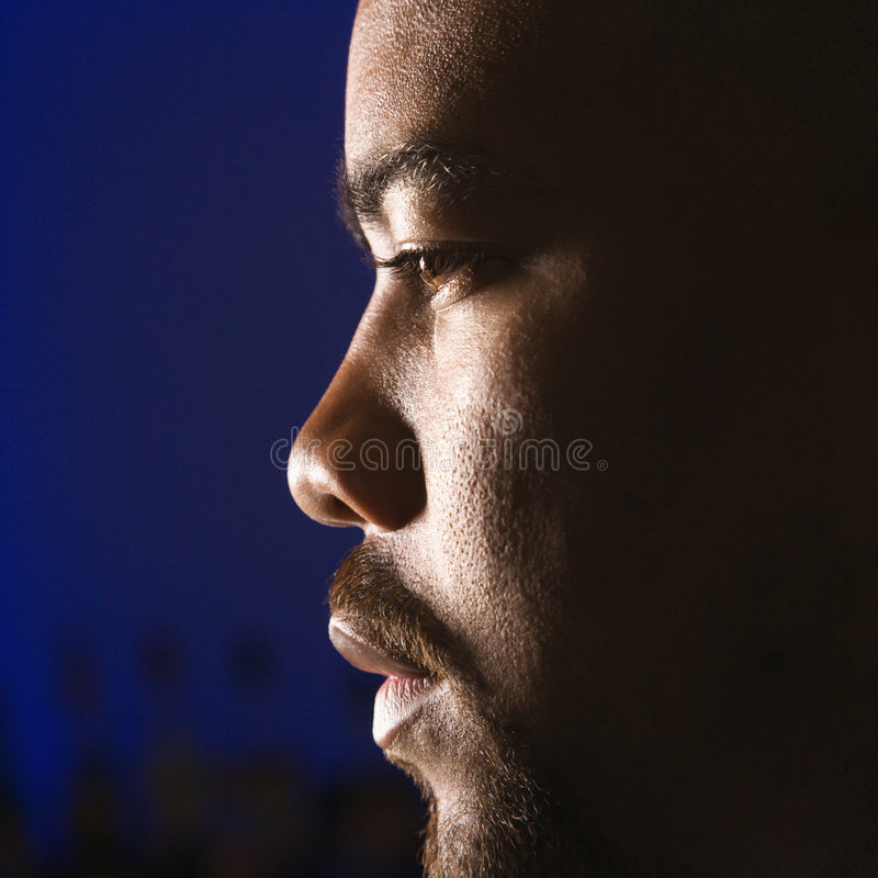 Portret van de mens. stock foto