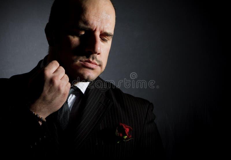 Portret van de mens. stock fotografie