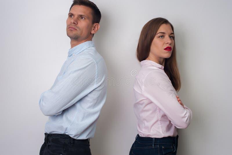 Portret van de mens en vrouw stock afbeeldingen