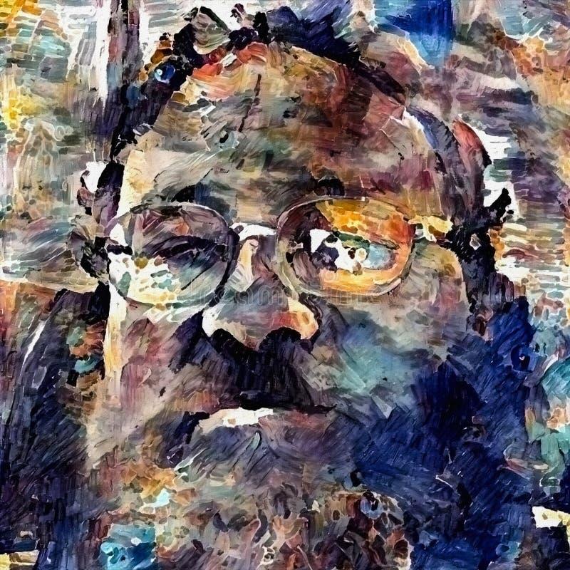 Portret van de mens stock afbeelding