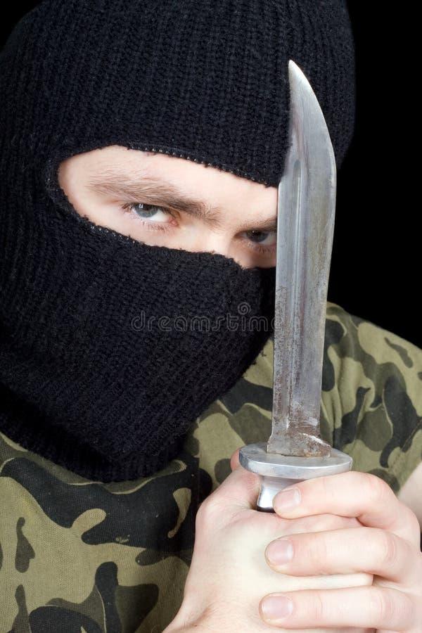 Portret van de misdadiger stock fotografie