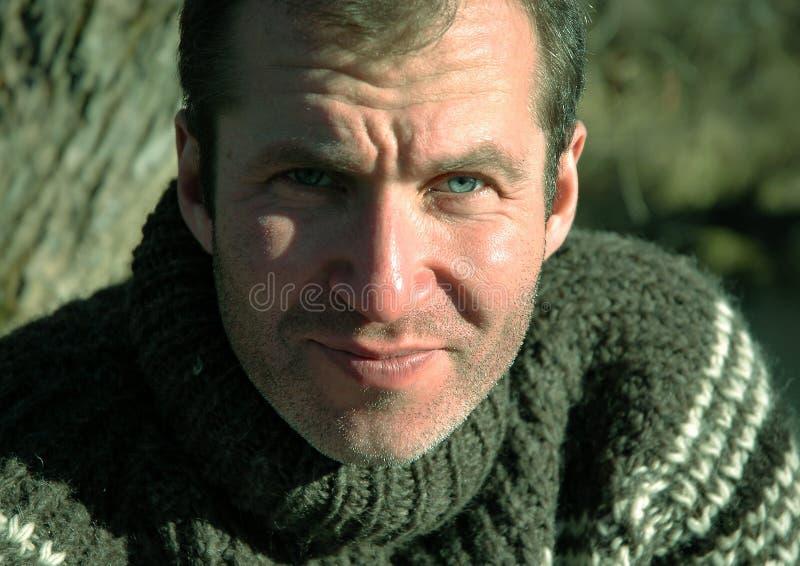 Portret van de moedige mens royalty-vrije stock foto's