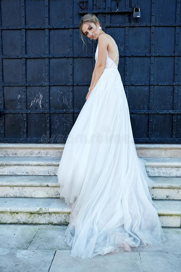 Portret van de mooie bruid royalty-vrije stock foto's