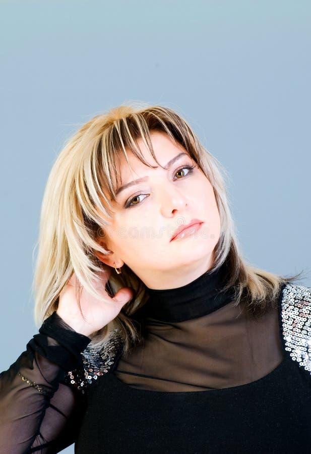 Portret Van De Mooie Vrouw Stock Fotografie