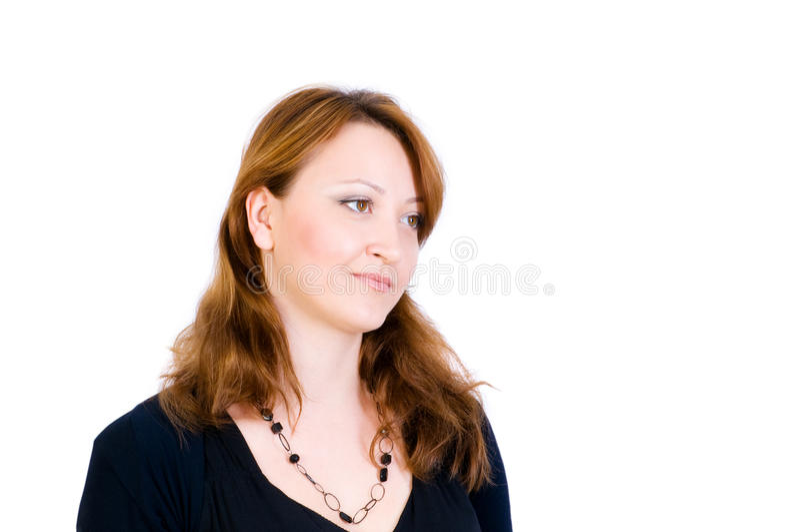Portret Van De Mooie Vrouw Stock Afbeelding