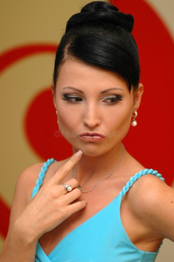 Portret van de mooie vrouw royalty-vrije stock foto's