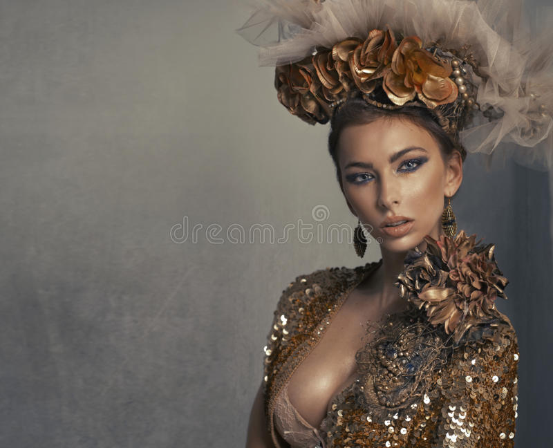 Portret van de mooie vrouw royalty-vrije stock foto