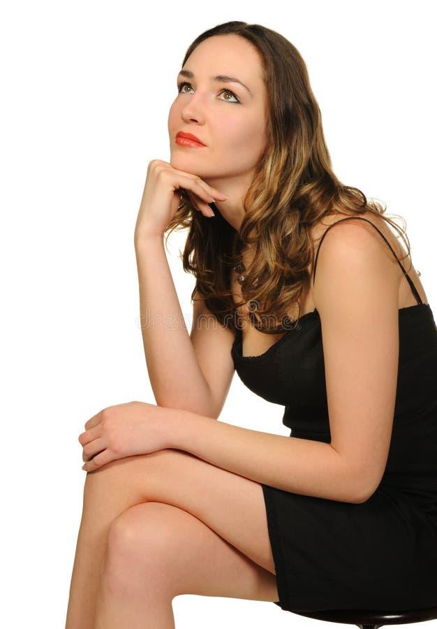 Portret van de mooie vrouwenclose-up stock afbeelding