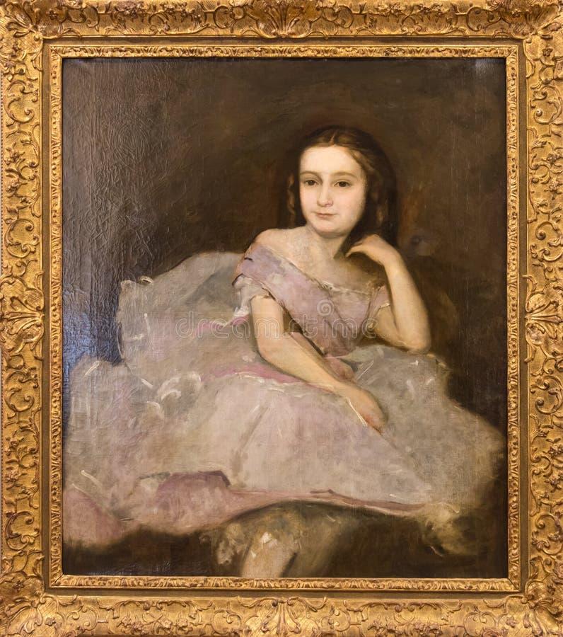 Portret van de Nicht B Edgar Degas van Dega royalty-vrije stock afbeeldingen