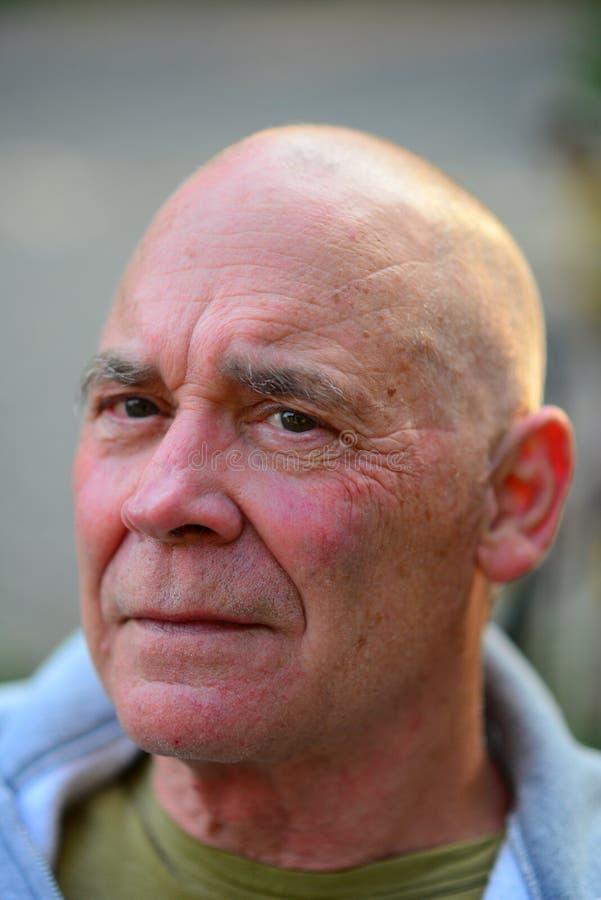 Portret van de oude mens stock afbeelding