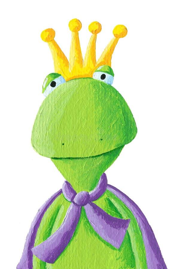 Portret van de Prins van de Kikker stock illustratie