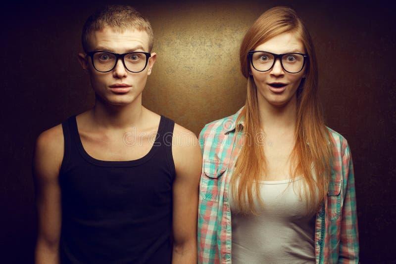 Portret van de schitterende roodharige tweelingen (van de gember) manier royalty-vrije stock fotografie