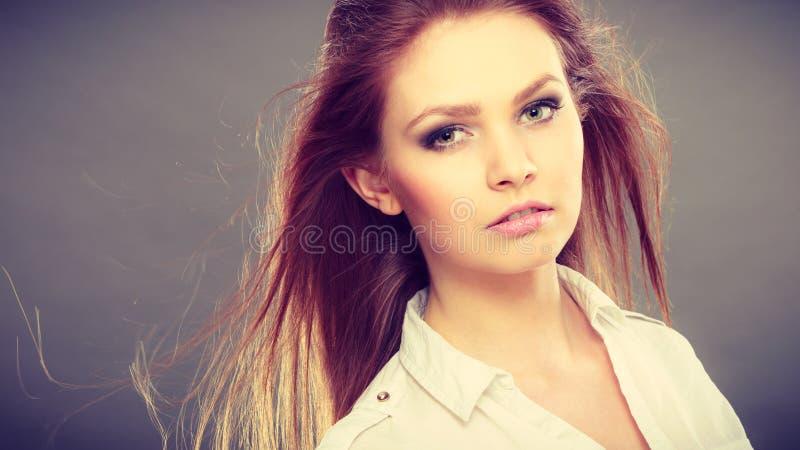 Portret van de schoonheids het schitterende elegante vrouw stock afbeelding
