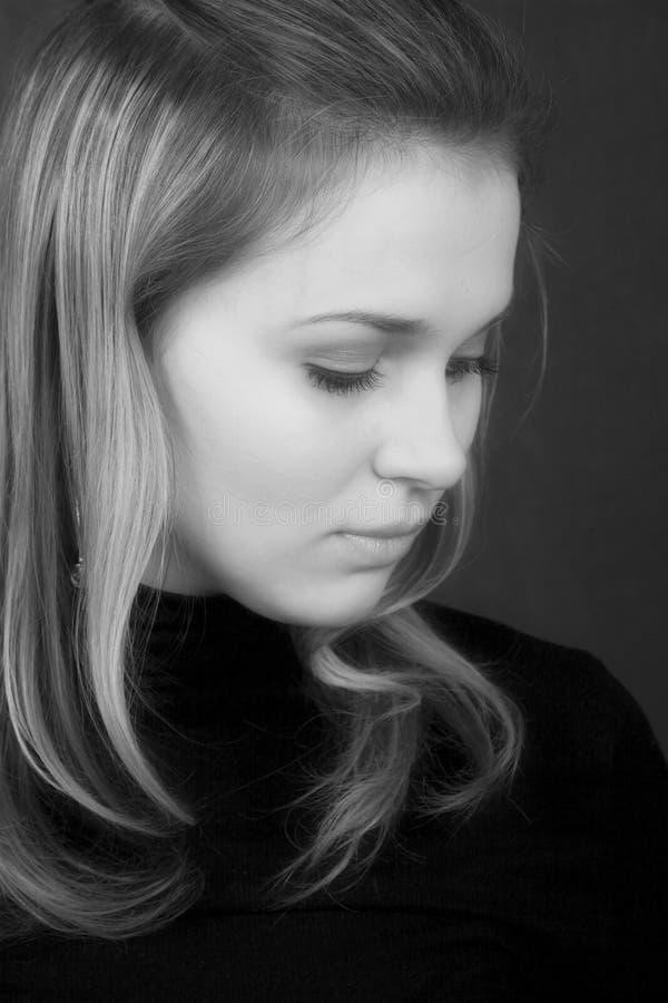 Portret van de seksuele jonge vrouw royalty-vrije stock foto's