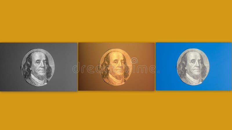 Portret van de staatsman, de uitvinder, en de diplomaat Benjamin Franklin van de V S President Benjamin Franklin royalty-vrije stock fotografie