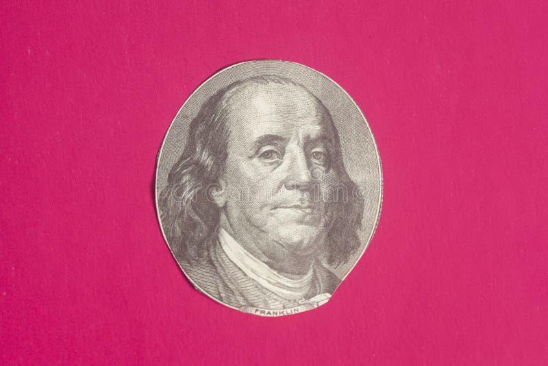 Portret van de staatsman, de uitvinder, en de diplomaat Benjamin Franklin van de V S President Benjamin Franklin stock fotografie