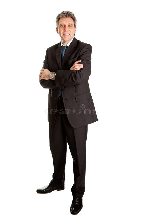 Portret van de succesvolle bedrijfsmens stock foto's