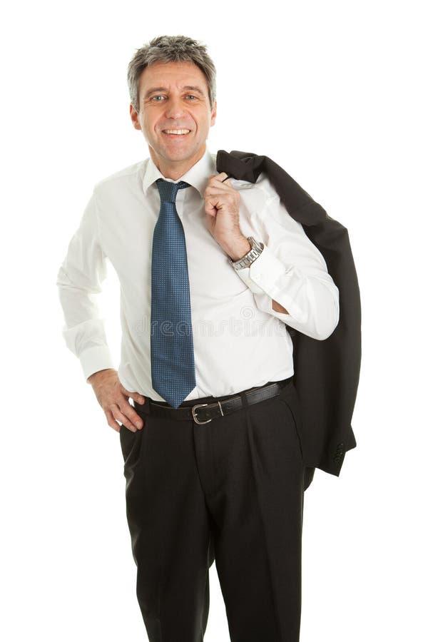 Portret van de succesvolle bedrijfsmens stock fotografie