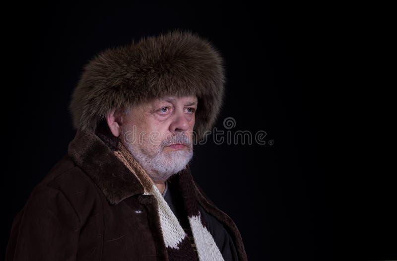 Portret van de taaie hogere mens stock foto's
