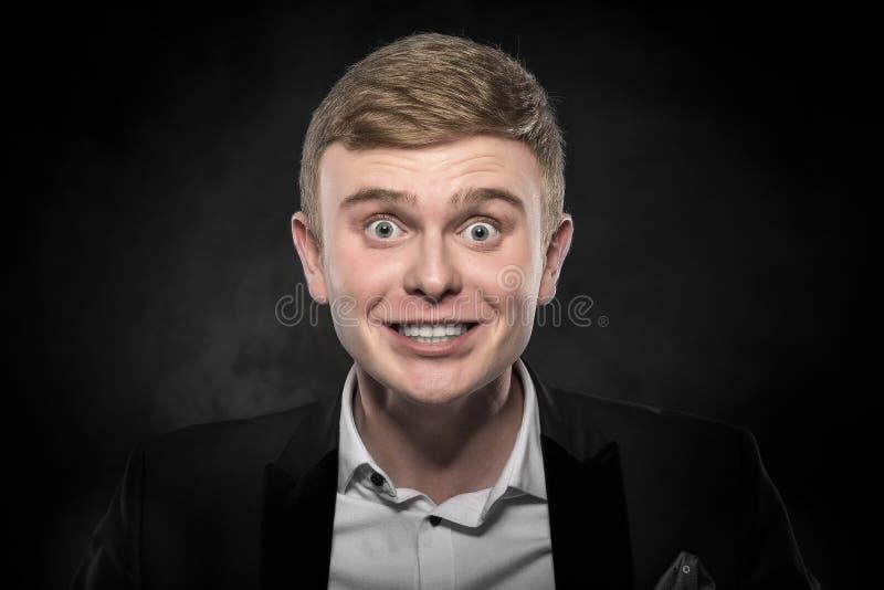 Portret van de verraste mens stock foto's