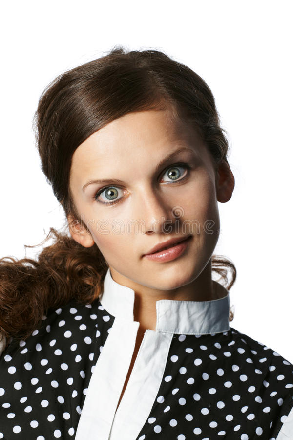 Portret van de vrouw stock foto