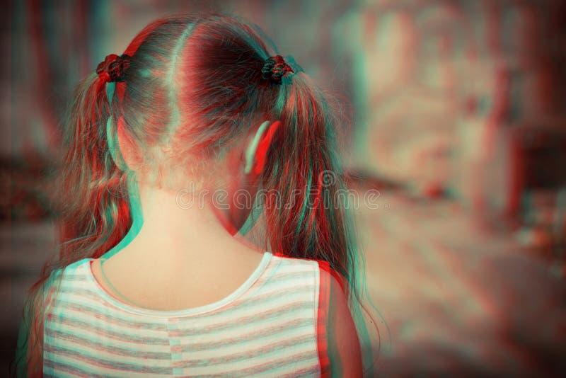 Portret van droevig kind stock afbeelding