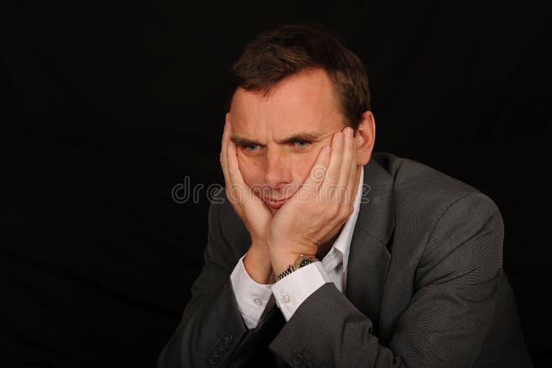 Portret van droevige zakenman royalty-vrije stock afbeelding