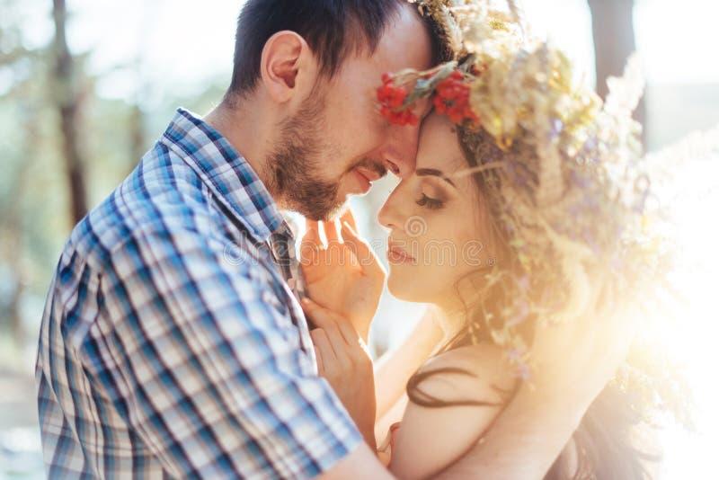 Portret van echtgenoot en vrouw royalty-vrije stock afbeelding