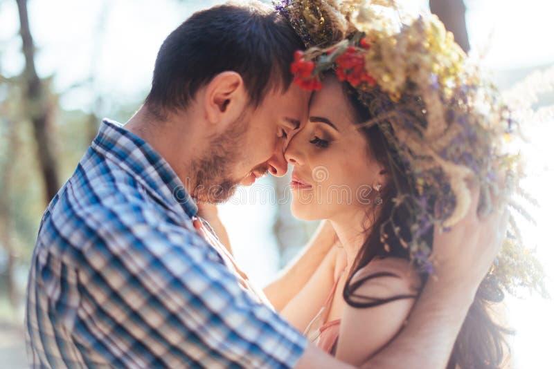 Portret van echtgenoot en vrouw stock fotografie