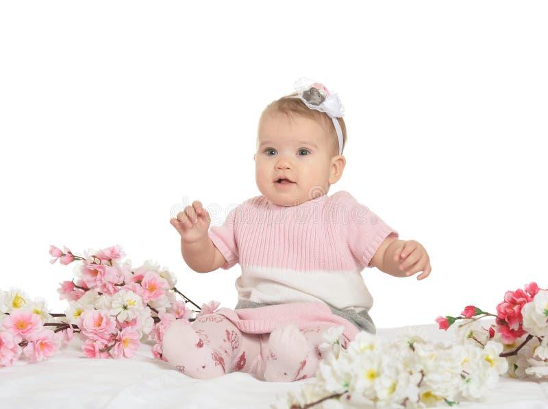 Portret van een aardige baby stock foto's