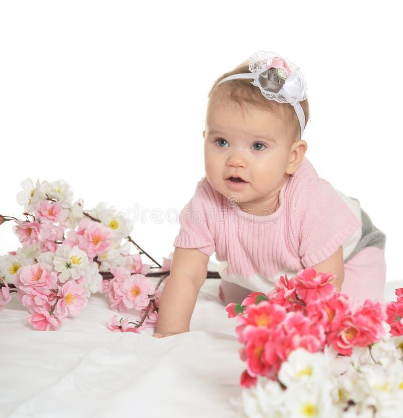 Portret van een aardige baby royalty-vrije stock fotografie
