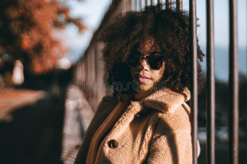 Portret van een Afrikaans-Amerikaans meisje stock fotografie