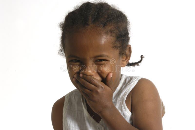 Portret van een Afrikaans jong meisje royalty-vrije stock fotografie