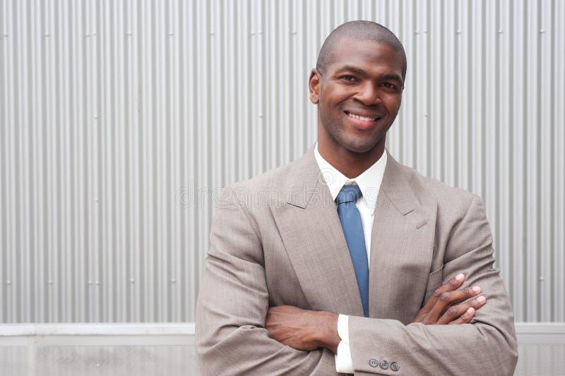Portret van een Afrikaanse Amerikaanse zakenman royalty-vrije stock foto