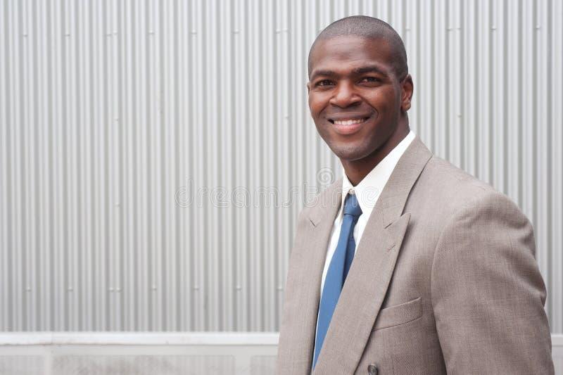Portret van een Afrikaanse Amerikaanse zakenman royalty-vrije stock fotografie