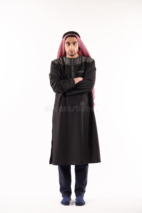 Portret van een Arabische mens in kufiya royalty-vrije stock fotografie