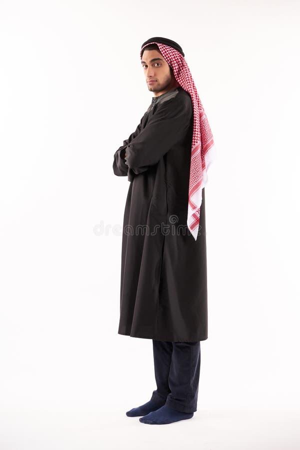Portret van een Arabische mens in kufiya stock afbeelding