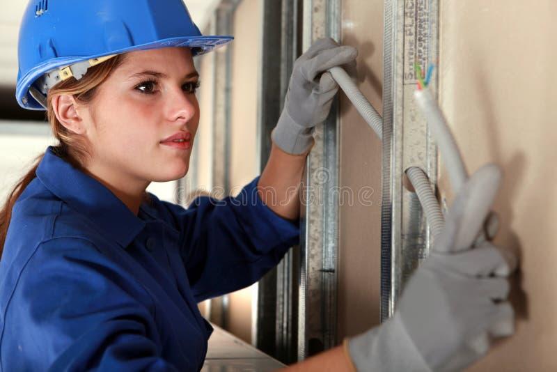 Portret van een arbeider stock afbeelding
