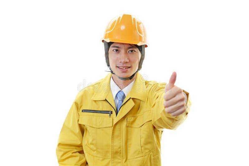 Portret van een arbeider stock fotografie