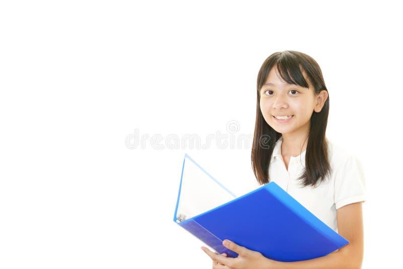 Portret van een Aziatisch schoolmeisje royalty-vrije stock foto's