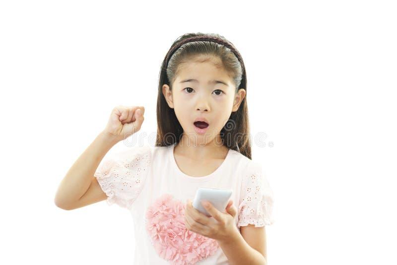 Portret van een Aziatisch schoolmeisje stock afbeelding