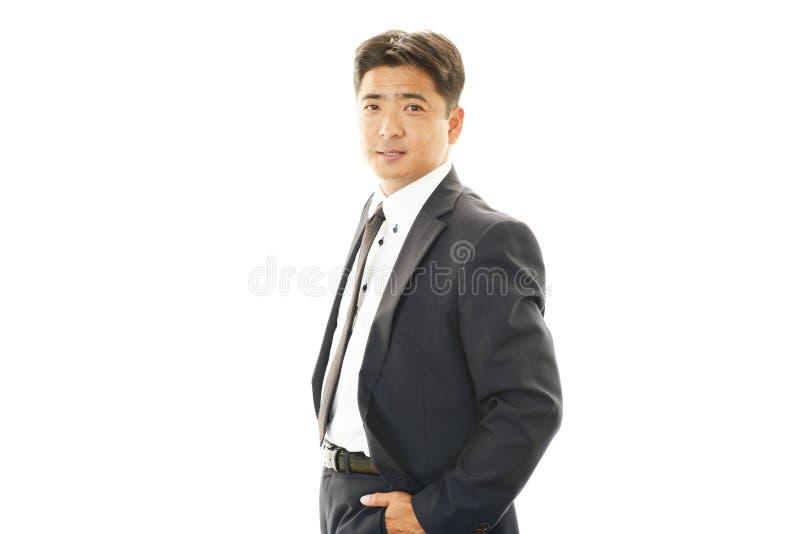 Portret van een Aziatische zakenman royalty-vrije stock afbeelding