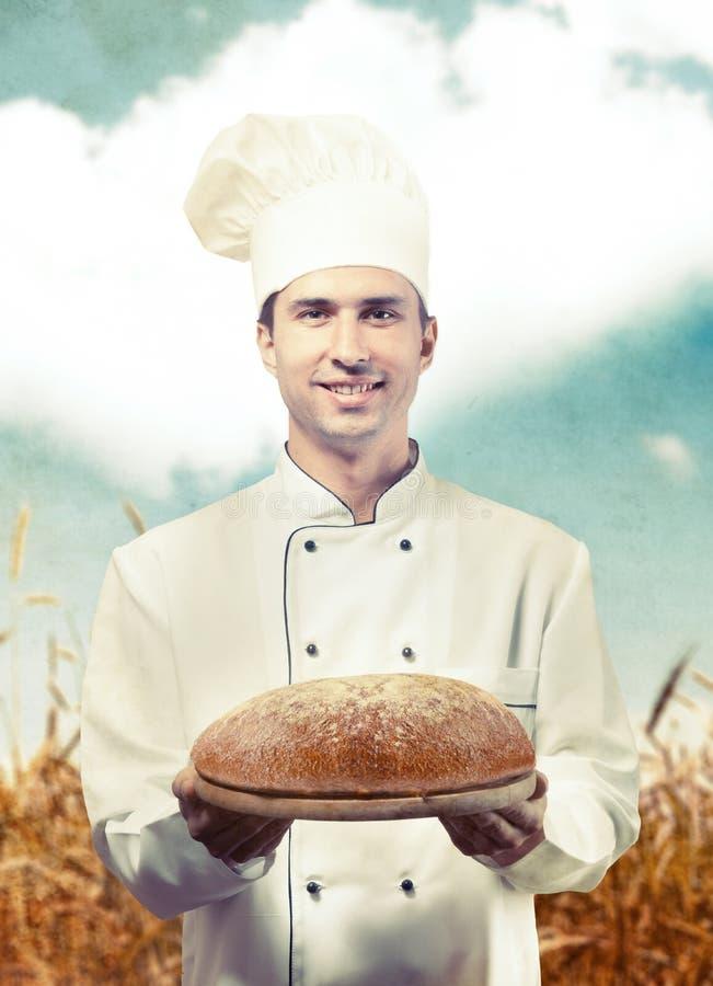 Portret van een bakker stock foto