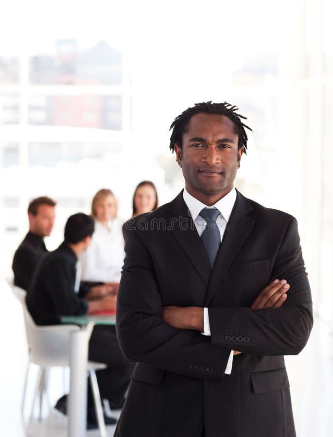 Portret van een bedrijfsleider stock foto