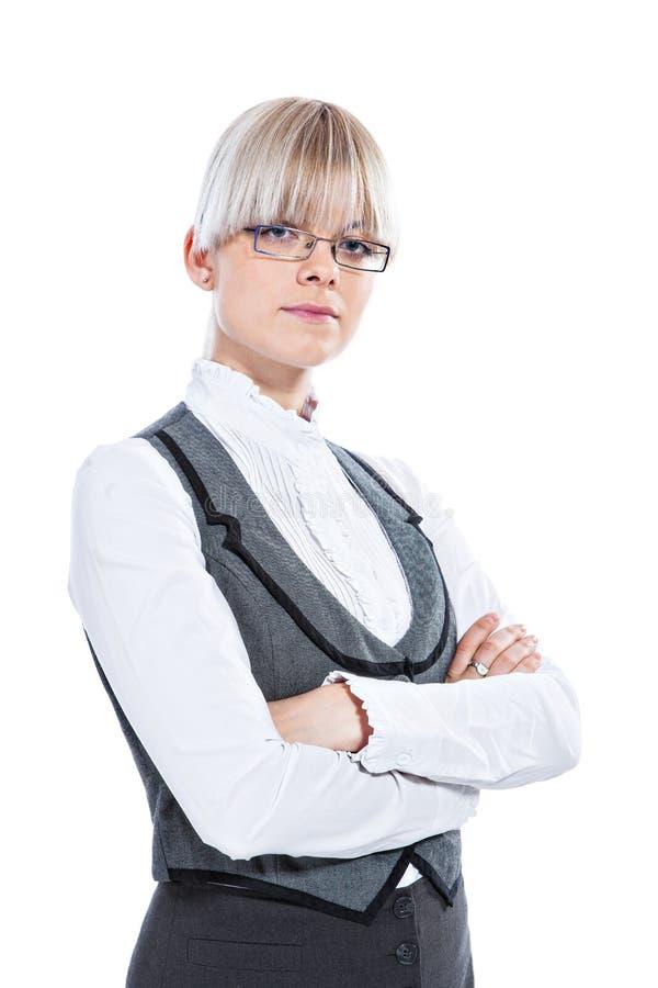 Download Portret Van Een Bedrijfsvrouw Stock Foto - Afbeelding bestaande uit arbeider, wapens: 29500270