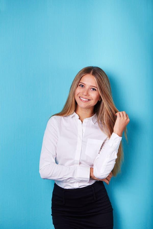 Portret van een bedrijfsvrouw stock foto's