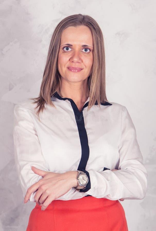 Portret van een bedrijfsvrouw royalty-vrije stock afbeelding
