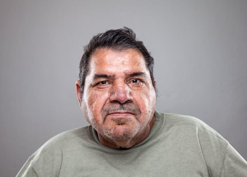 Portret van een bejaarde stock fotografie