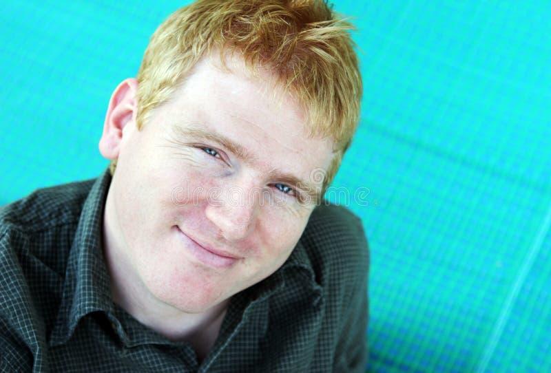 Portret van een blonde mens stock afbeelding