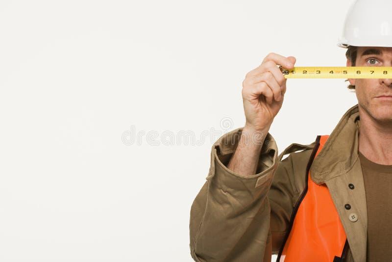 Portret van een bouwvakker stock foto's